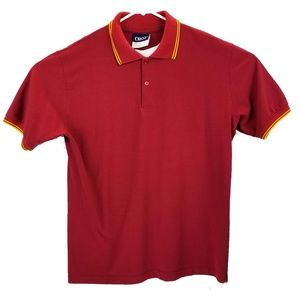 Crest Red and Gold Polo Size L EUC